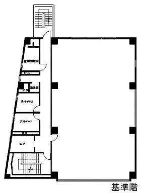 HF五反田ビルディング:基準階図面