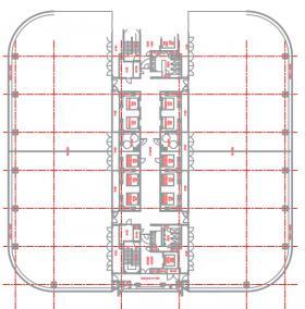 台場フロンティアビル:基準階図面