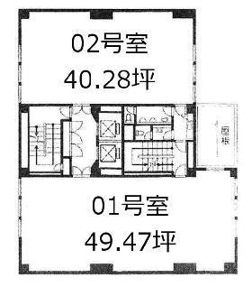 ラベルティ新宿ビル:基準階図面