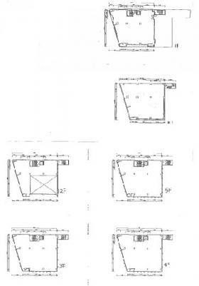 旧城北信金ビル:基準階図面