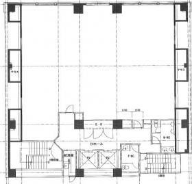 新宿EAST COURTビル:基準階図面