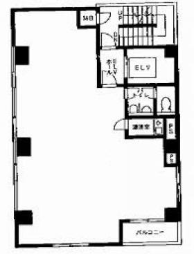 信濃町SANMOビル:基準階図面