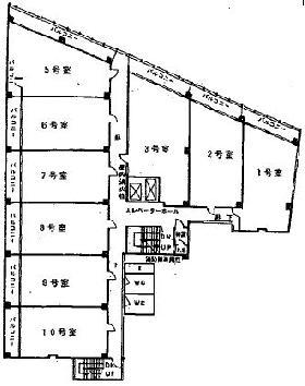 新陽ビル:基準階図面