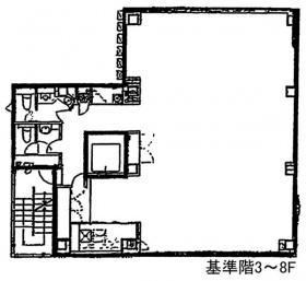 プレリー八重洲ビル:基準階図面