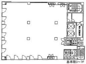 NEW KAWAI BUILDING(ニューカワイ):基準階図面