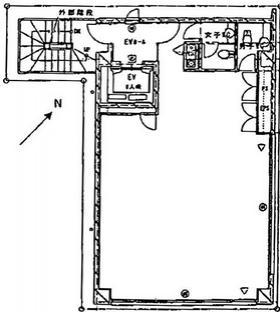 第2田村ビル:基準階図面