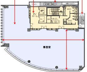 七十七銀座ビル:基準階図面