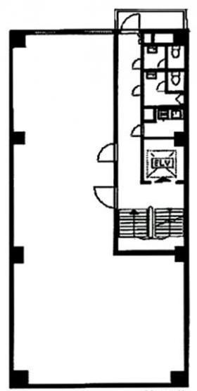 福禄ビル:基準階図面