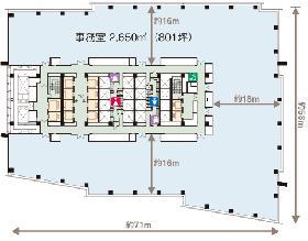 飯田橋グラン・ブルーム:基準階図面