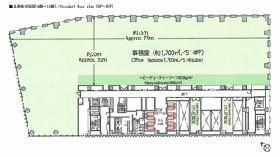 歌舞伎座タワー:基準階図面