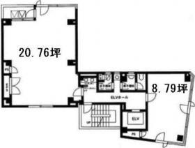 錦町スクウェアビル:基準階図面