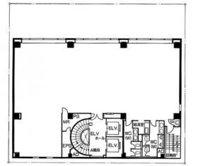 NC竹橋ビル:基準階図面