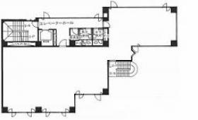 駿河台サンライズビル:基準階図面