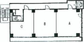 喜助九段北ビル(旧悠山九段ビル):基準階図面