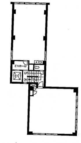 ビッグウエスト1号館ビル:基準階図面
