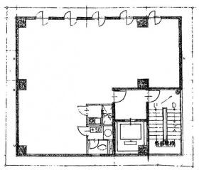 九段鶴屋ビル:基準階図面