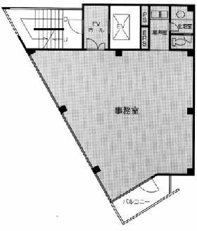 A・Plaza御茶の水ビル:基準階図面