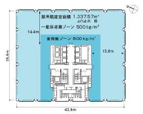 赤坂溜池タワー:基準階図面