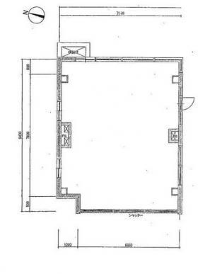 KODAビル幡ヶ谷:基準階図面