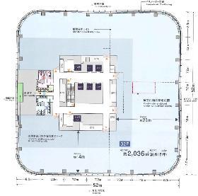 アークヒルズ仙石山森タワー:基準階図面