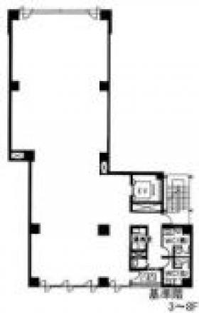 ユニゾ神田西福田町ビル(神田K-1ビル):基準階図面