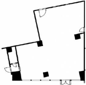 初台共同ビル:基準階図面