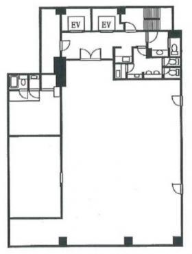 佃権月島ビル:基準階図面