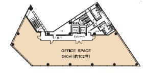 品川インターシティフロント:基準階図面