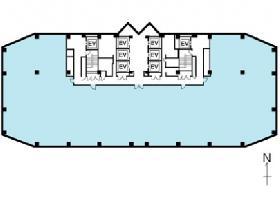 川口センタービル:基準階図面