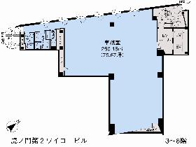 虎ノ門第2ワイコービル:基準階図面