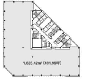 大手町ファーストスクエアイーストタワー:基準階図面
