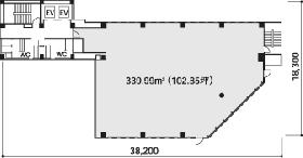 アーバンネット日本橋ビル:基準階図面