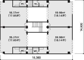 アーバンネット南麻布ビル:基準階図面