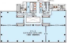 シブヤヒカリエビル:基準階図面