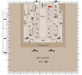 三田ベルジュビル:基準階図面