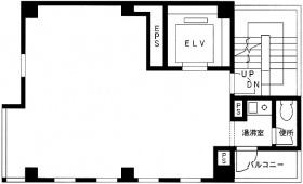 高輪OSビル:基準階図面
