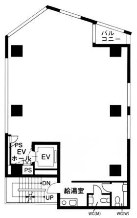 ラウンドクロス西新宿ビル:基準階図面