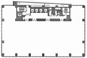 アークヒルズフロントタワーRoPビル:基準階図面