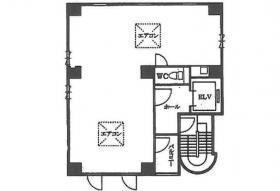 キャトルセゾン麹町ビル:基準階図面