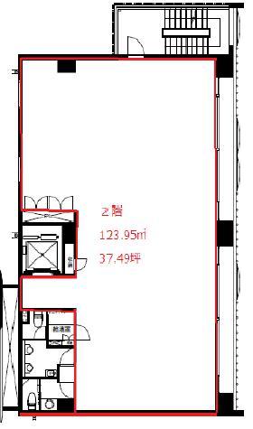 赤坂フェニックスビル:基準階図面