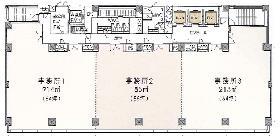 WESTRIO千葉フコク生命ビル:基準階図面