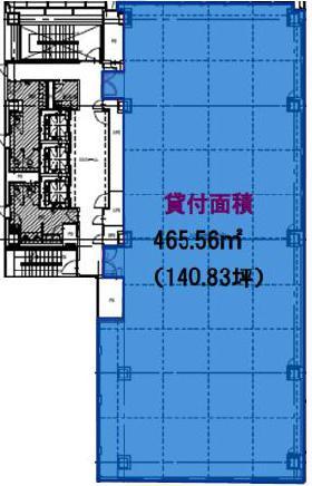 田町フロントビル:基準階図面
