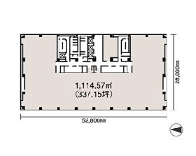 シーノ大宮ノースウィング:基準階図面