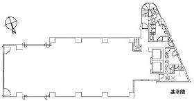 ランディック第2虎ノ門ビル:基準階図面