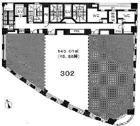 ルネパルティーレ汐留:基準階図面
