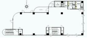サウスポイント三鷹ビル:基準階図面