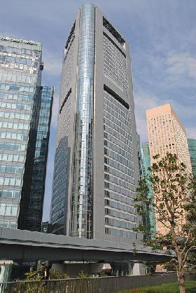 汐留メディアタワービルの外観写真