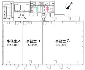 クロスオフィス渋谷メディオ:基準階図面