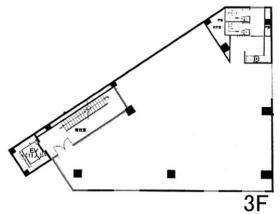 QCcube南青山115ビル:基準階図面