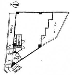 第1園田ビル:基準階図面